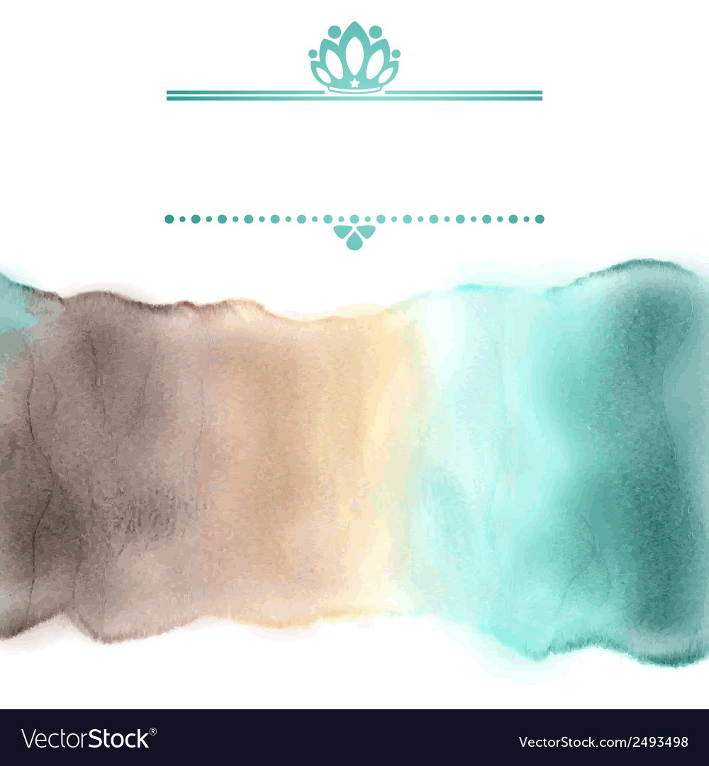 Watercolor stripe in delicate colors with frame