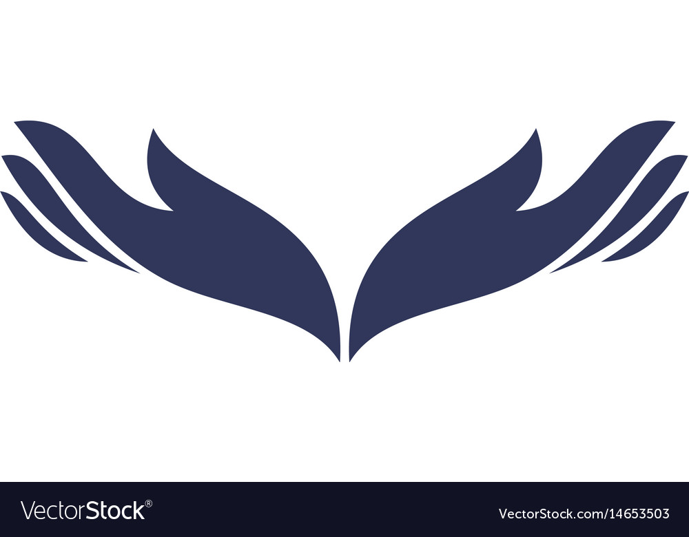 Abstract hand icon logo image