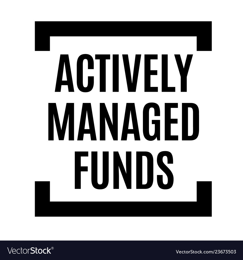 Actively managed funds black stamp vector image on VectorStock