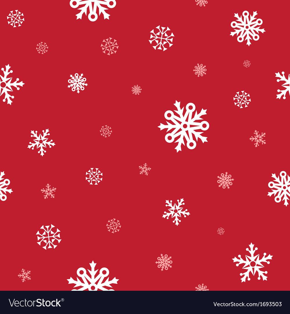 Snow red pattern