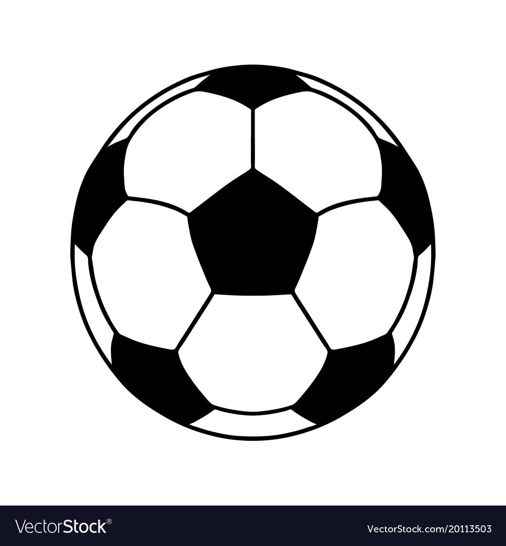 Soccer Ball Or Football Ball Shape Icon Royalty Free Vector
