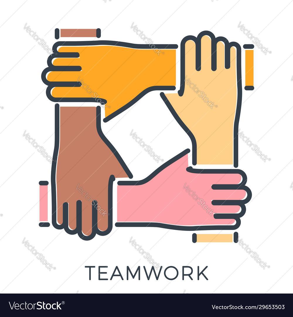Teamwork or hands friends