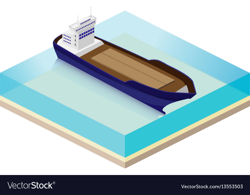 The cargo ship to transport goods by sea