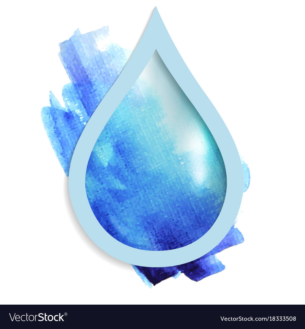 Beautiful blue drop