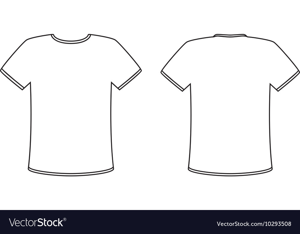 a1f621b33 Blank front and back t-shirt design template set Vector Image