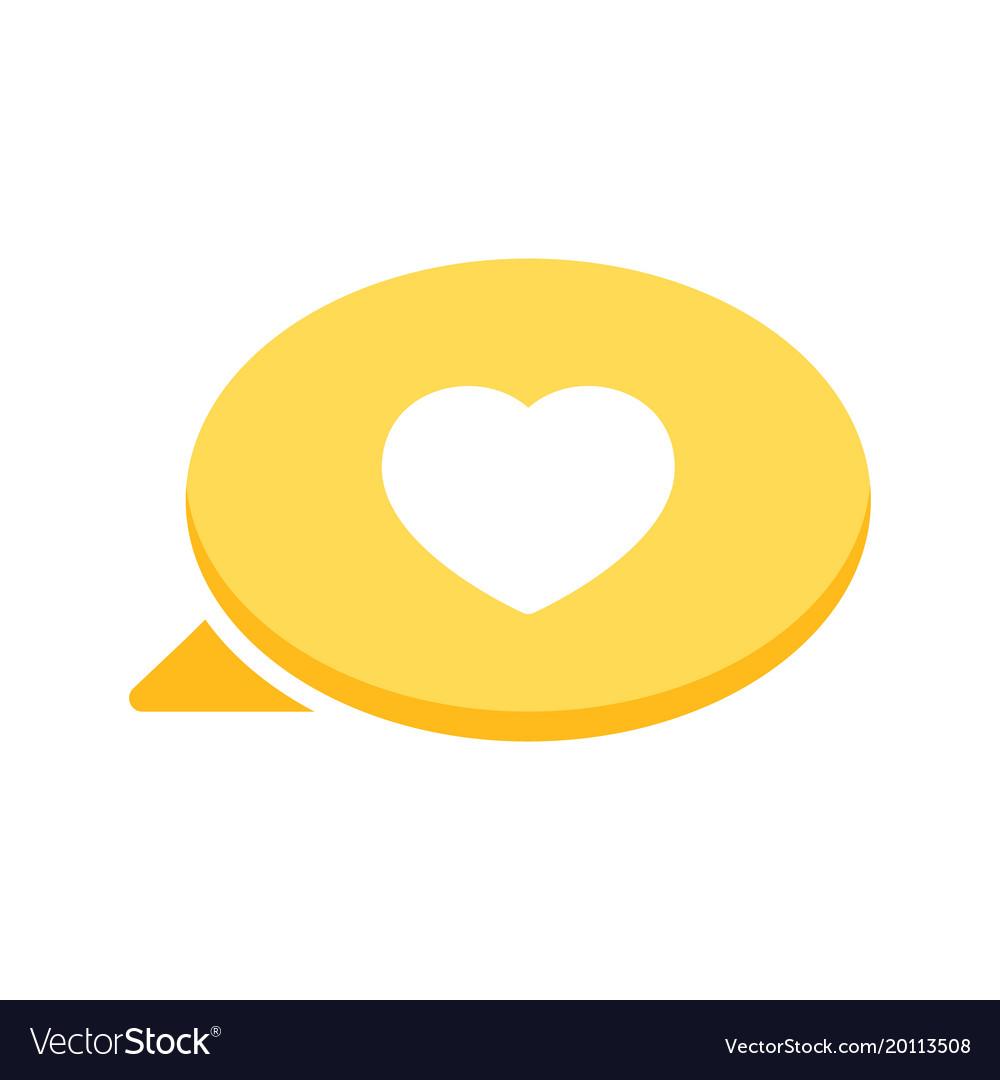 Bubble Chat Dialogue Heart Love Message Speech Vector Image