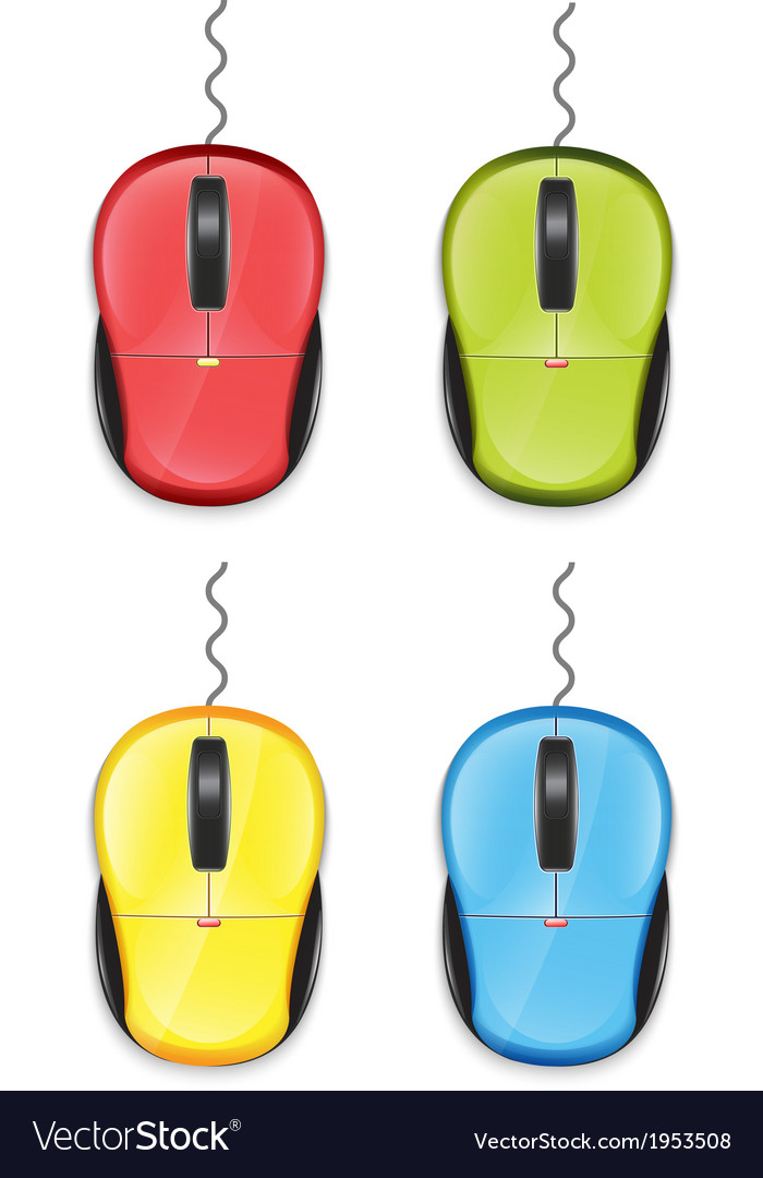 Computer Mouse Set vector image