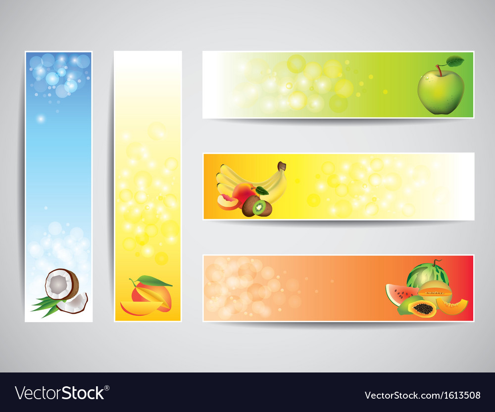 Fruits banners