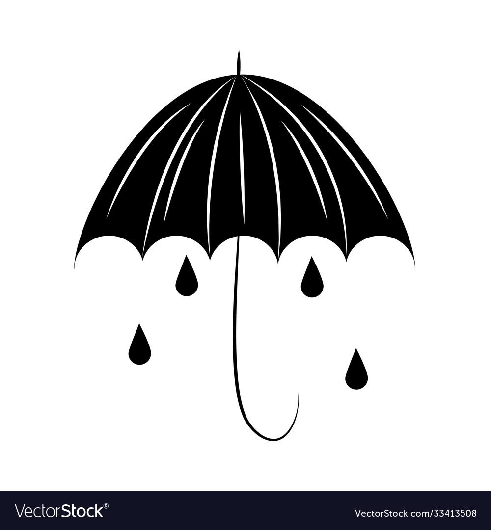 Minimalist tattoo boho umbrella rain drops