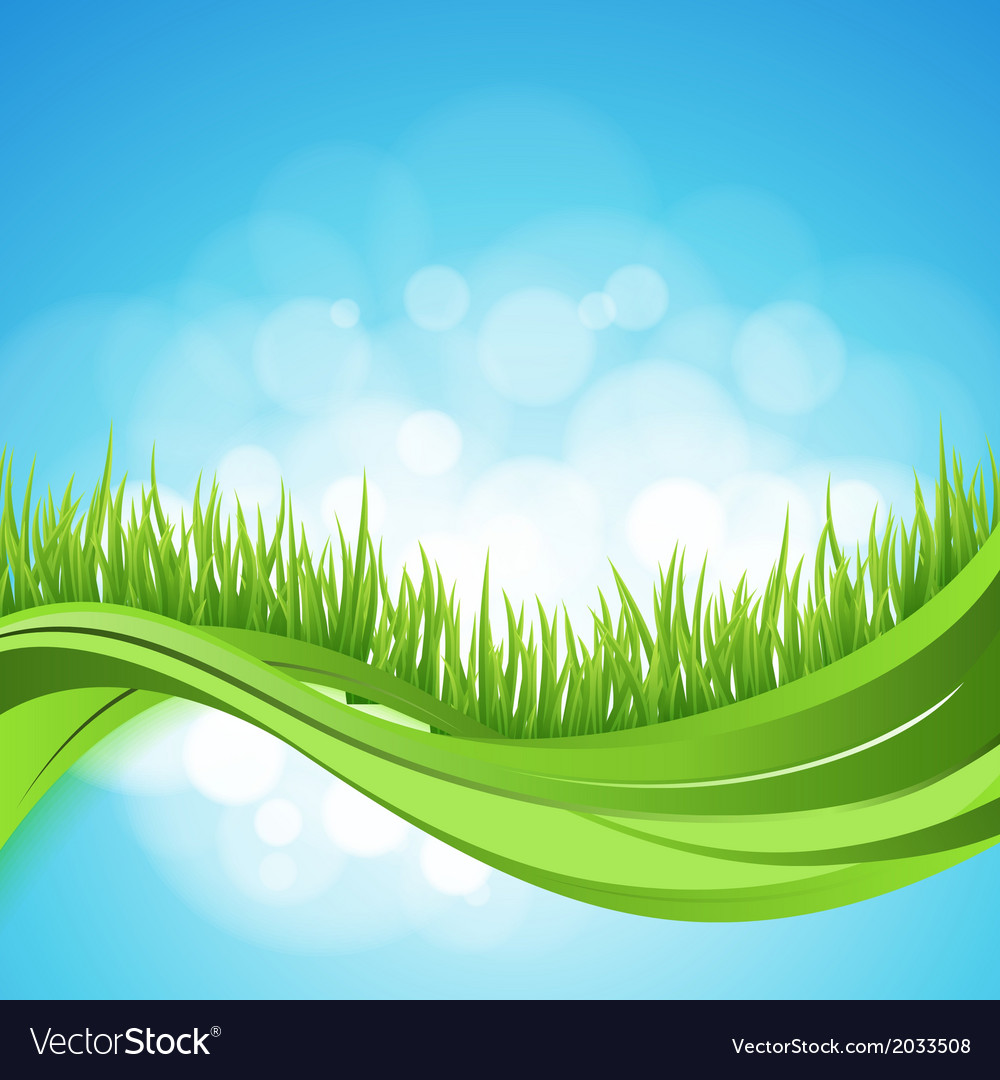 Nature ackground Abstract backdrop with green gra
