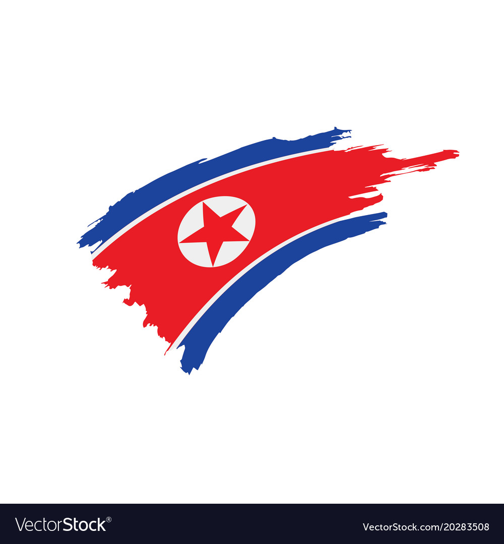 north korea flag royalty free vector image vectorstock rh vectorstock com korea flag vector download korean flag vector ai