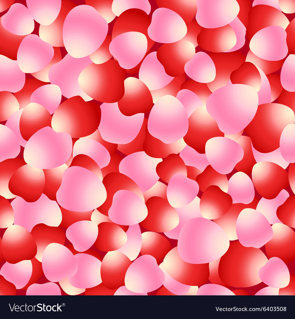 Red and pink rose petals seamless pattern