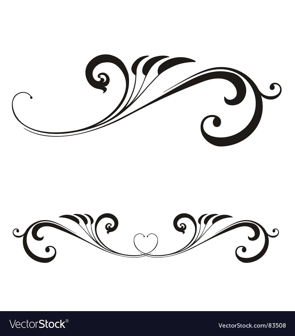 valentines day scroll royalty free vector image rh vectorstock com vector scroll patterns vector scroll border