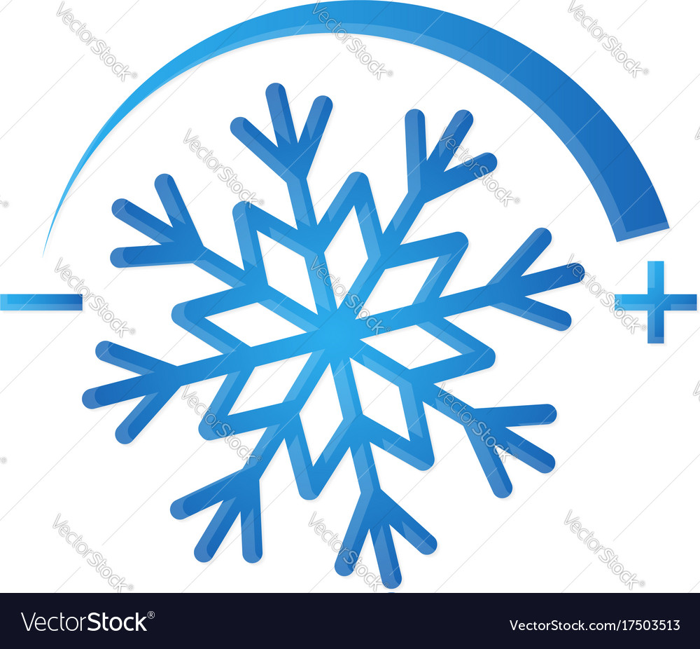 Air conditioning symbol snowflake