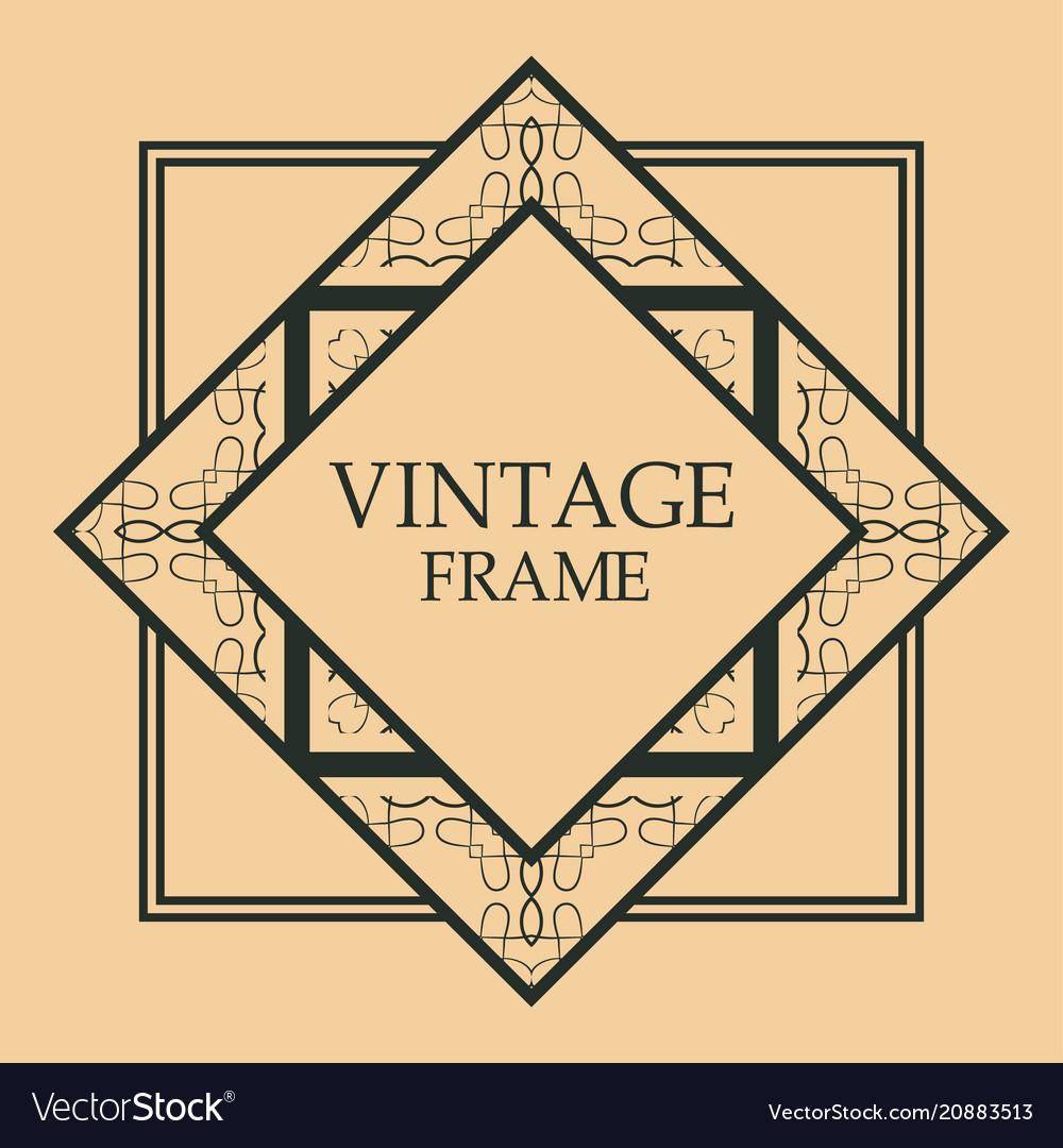Art deco frame