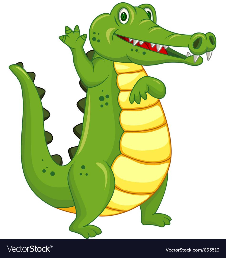 Cute crocodile cartoon
