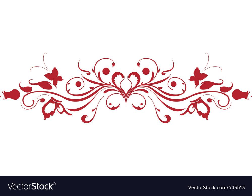 Decorative floral garnish vector image