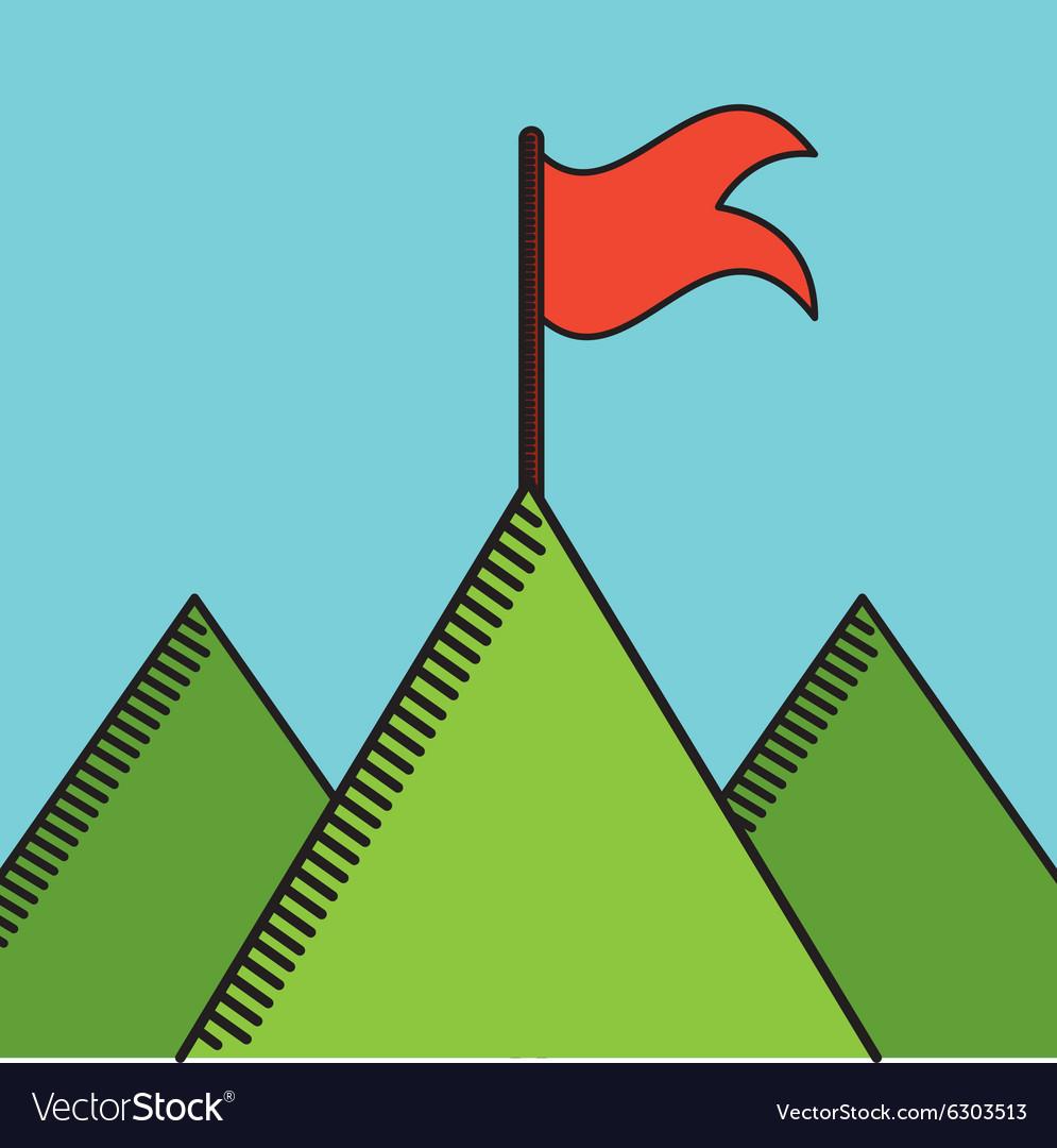 Golf course design vector image