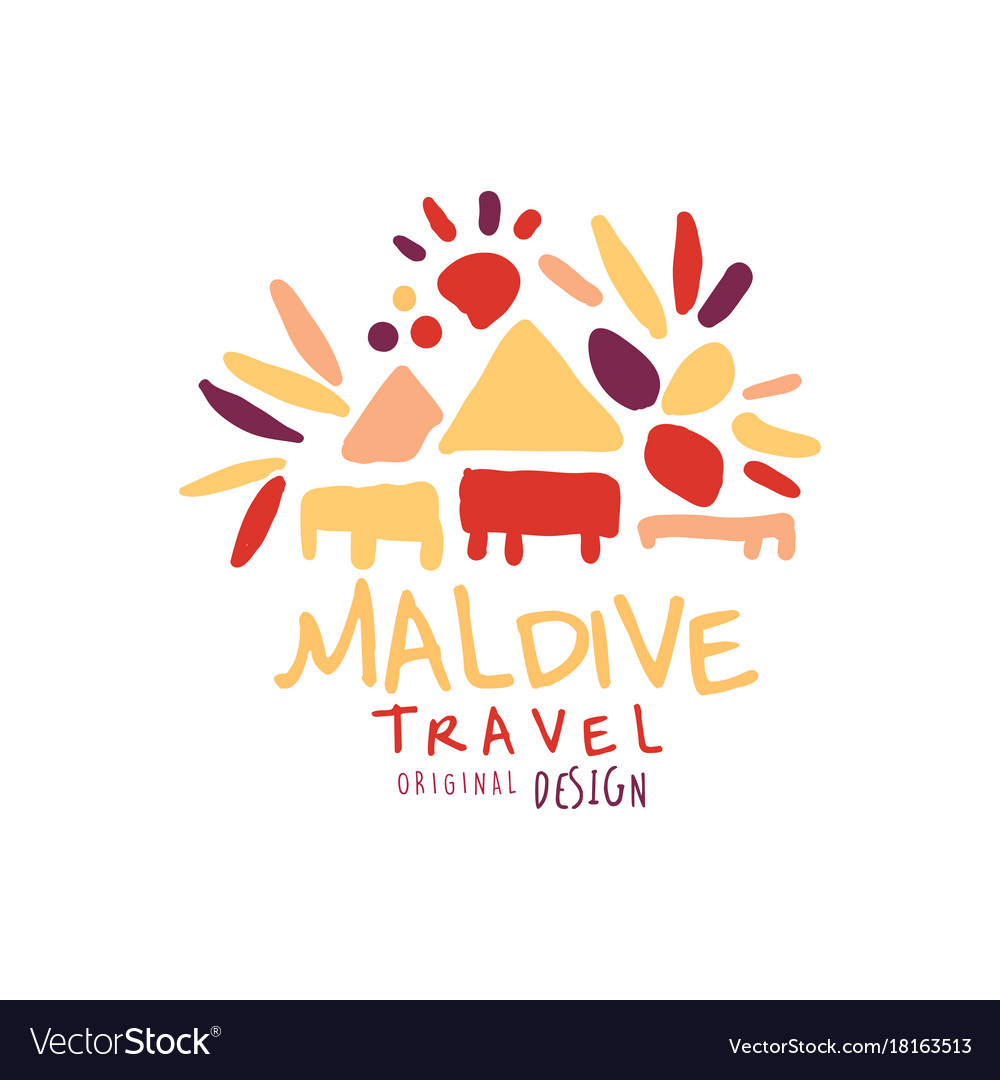 Travel to maldive logo design for travel agency