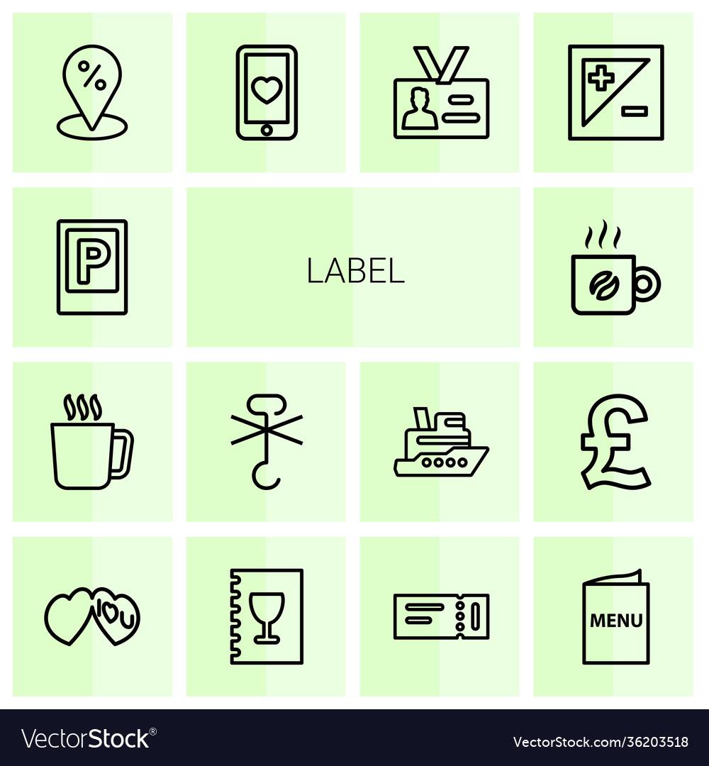 14 label icons