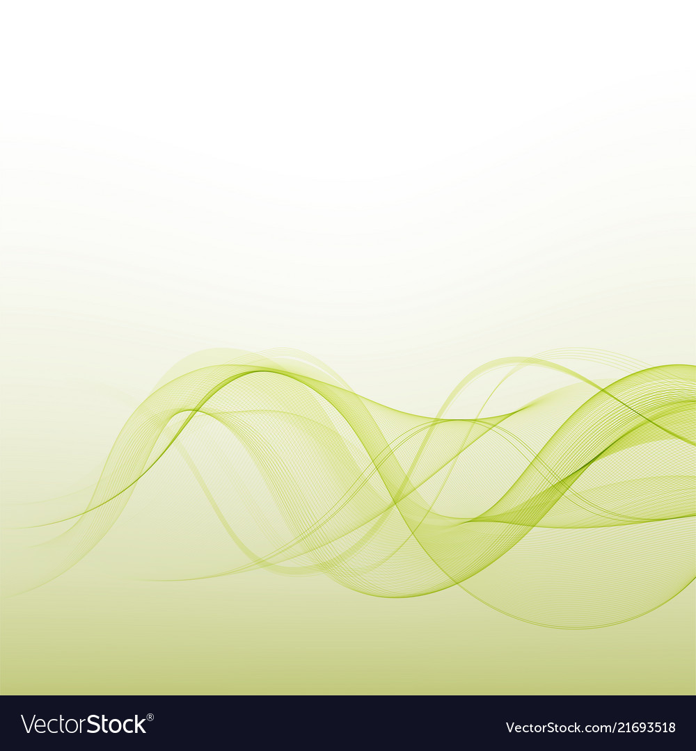 Abstract background green waved lines for