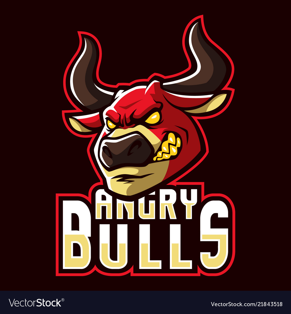 Angry bulls sign and symbol logo