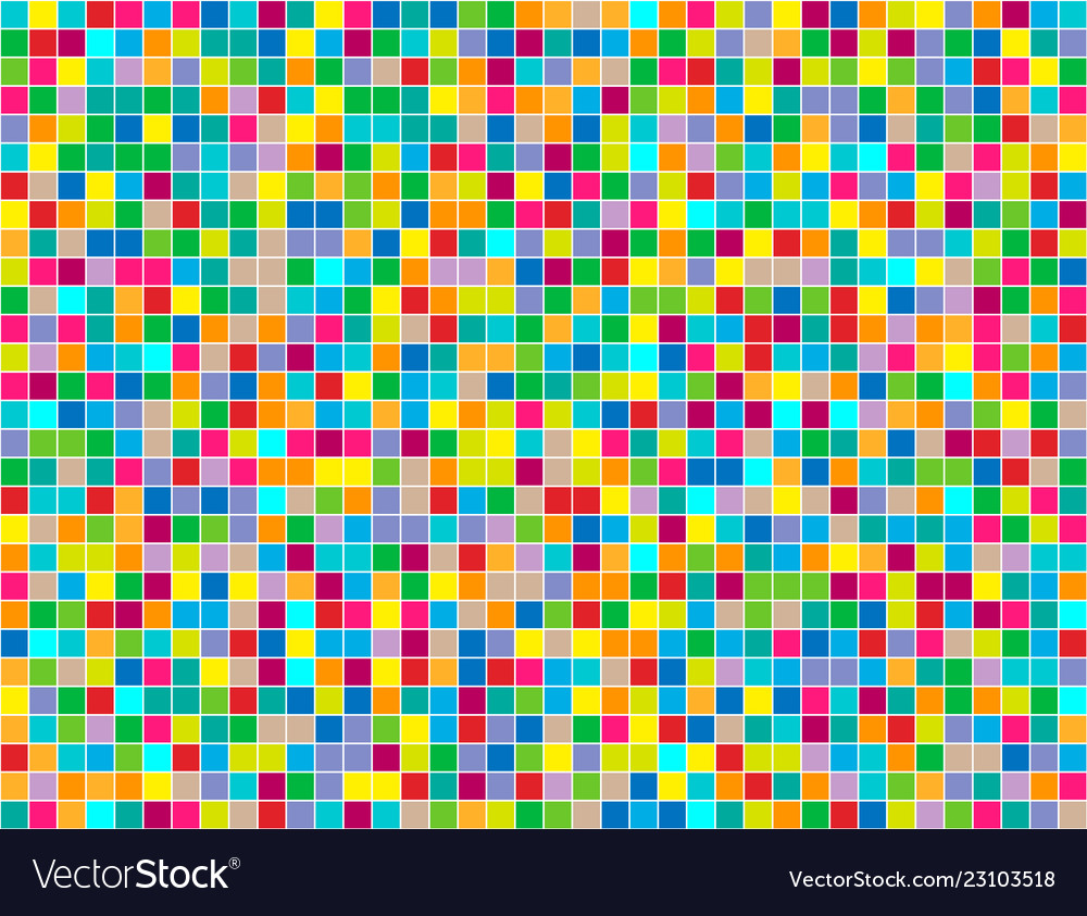 Background of colored squares painted in random