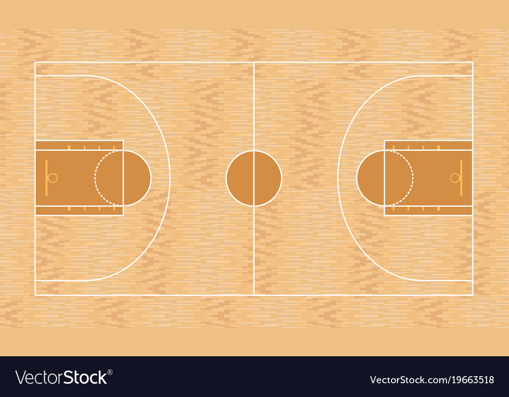 Basketball field top view