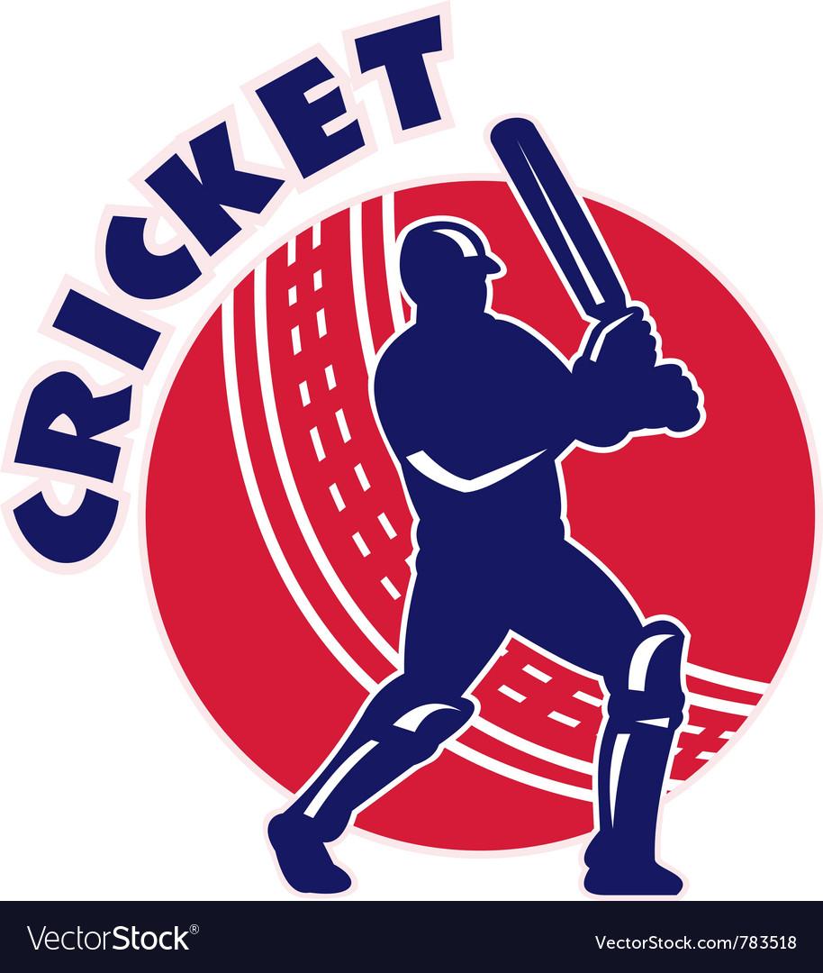 Cricket batsman background