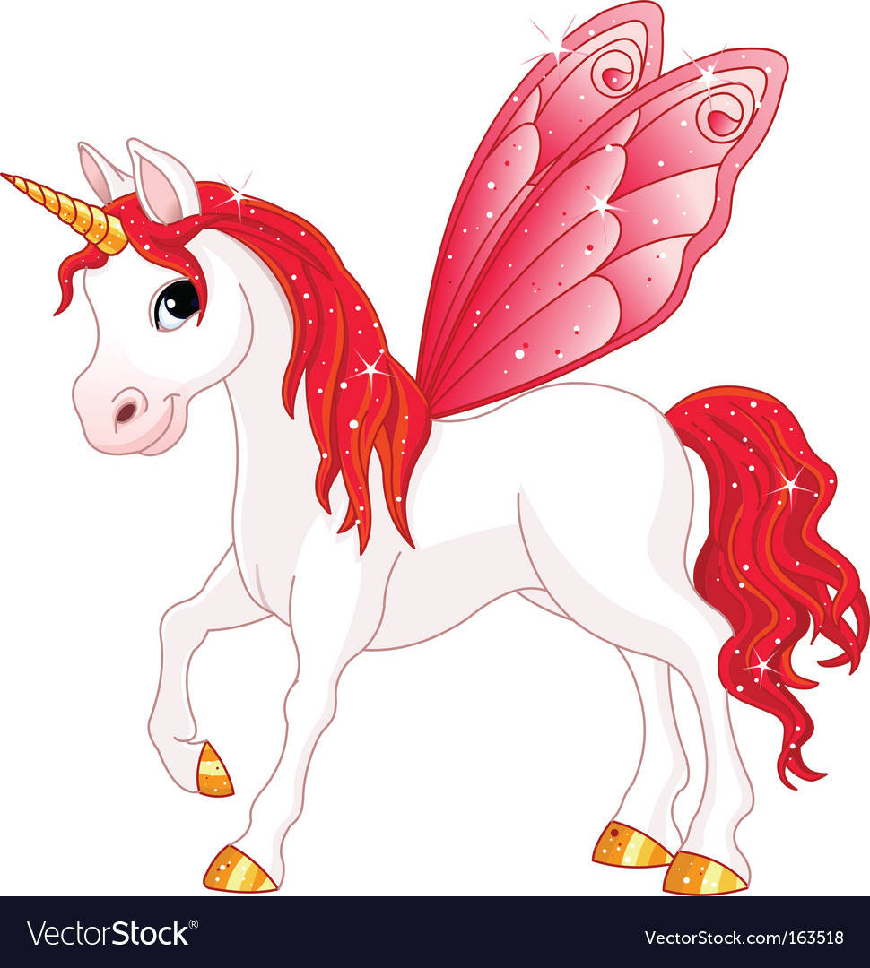 Fairy Tail Horse Royalty Free Vector Image
