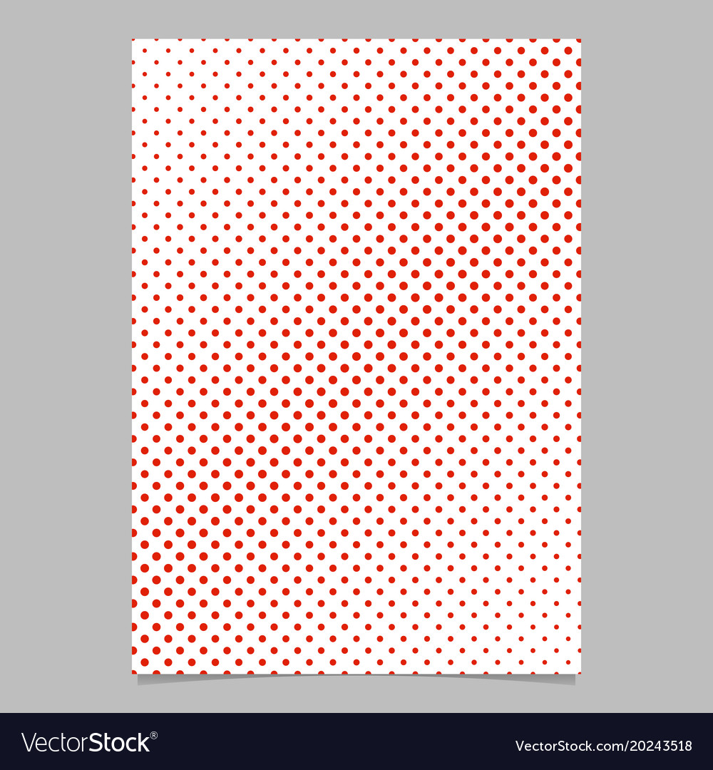 Halftone circle pattern background flyer design vector image