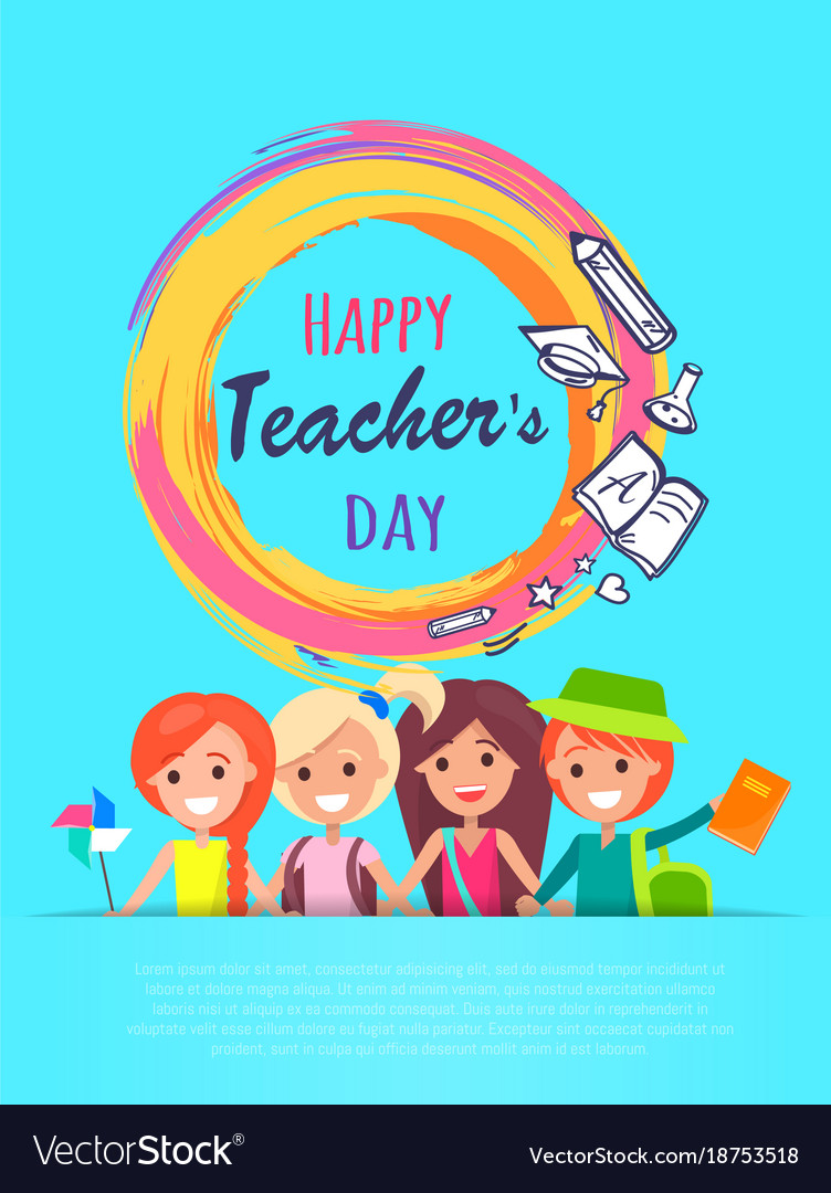 Happy Teachers Day Banner Royalty Free Vector Image