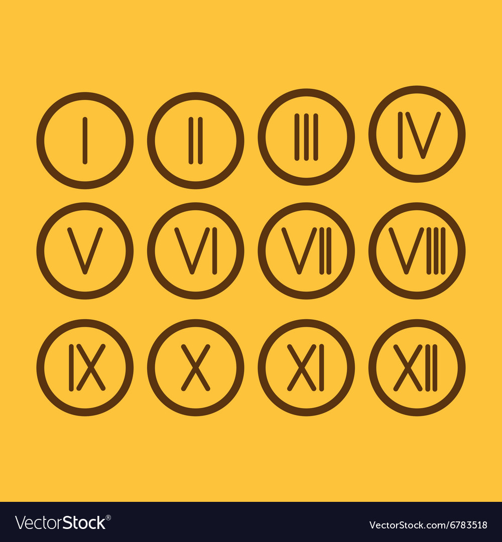 Set roman numerals 1 12 icon royalty free vector image set roman numerals 1 12 icon vector image altavistaventures Choice Image