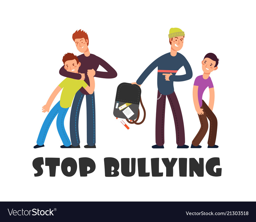 Stop bullying concept sad helpless kid negative