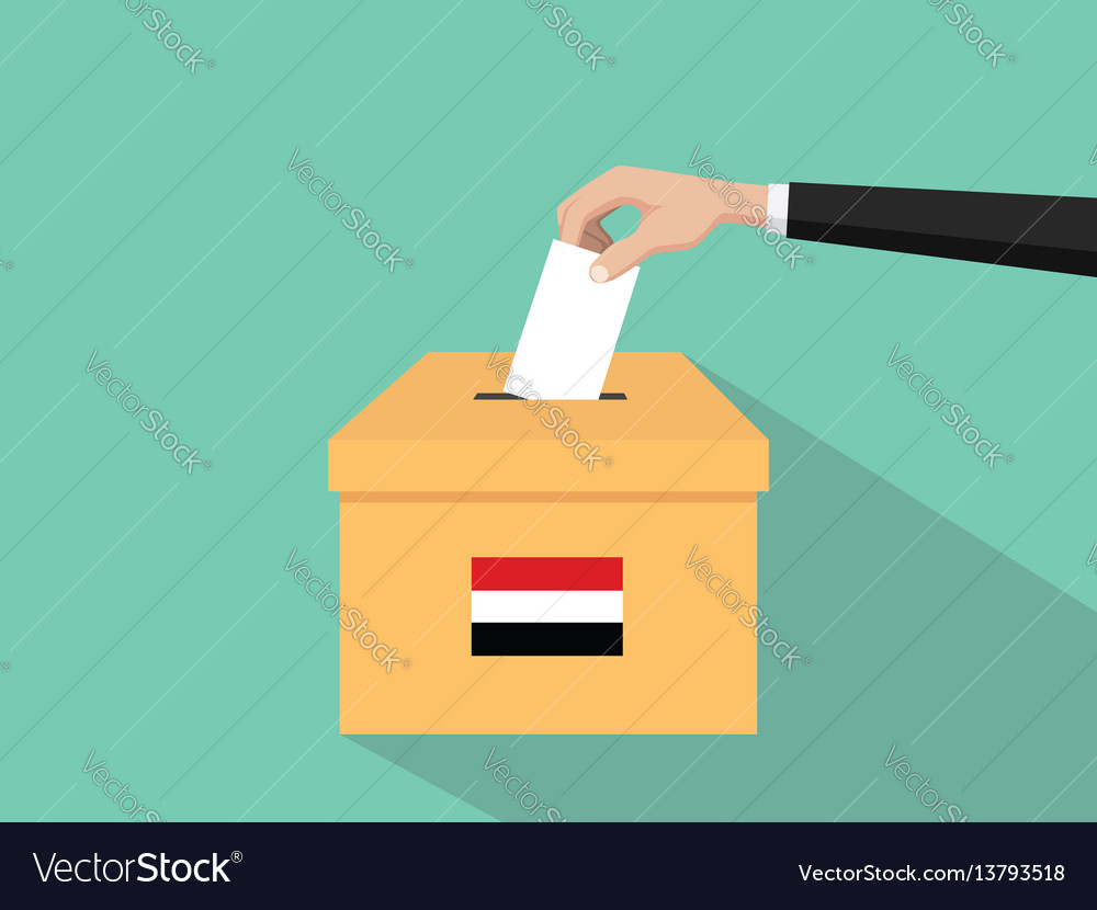 Yemen vote election concept with vector image