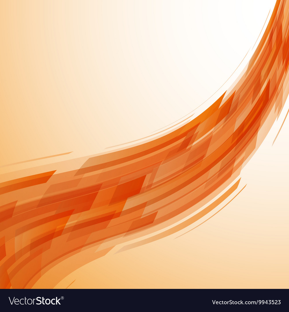 Abstract orange wave technology background