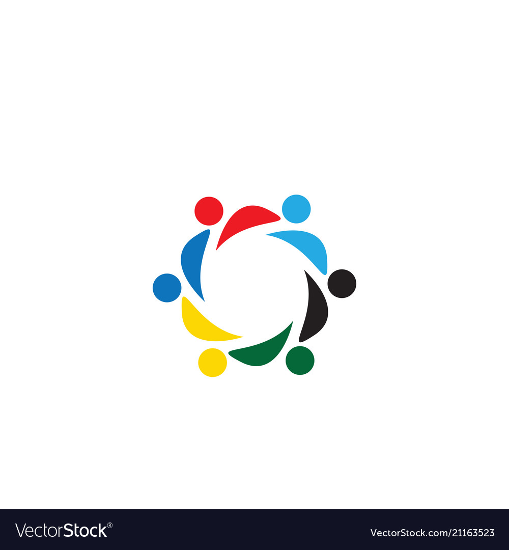 Community people organization logo icon template