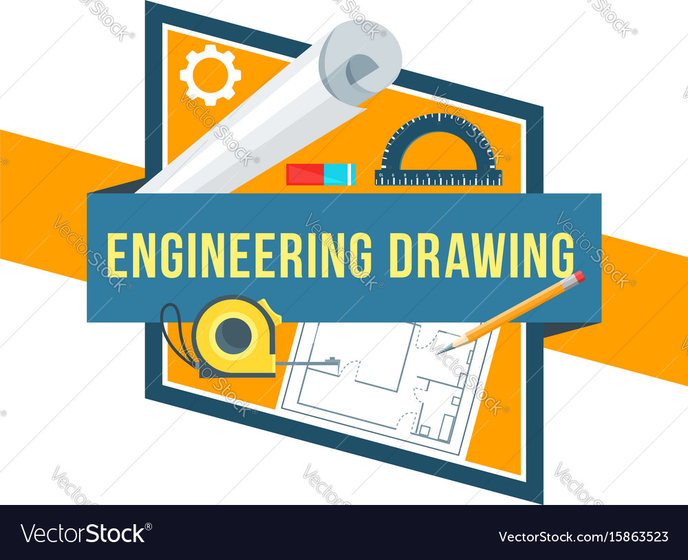 Construction engineering drawing tool icon