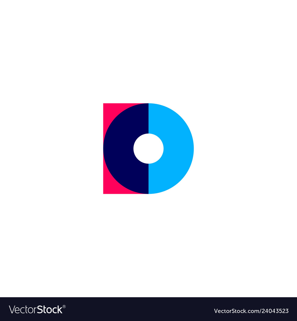 D letter overlapping logo icon