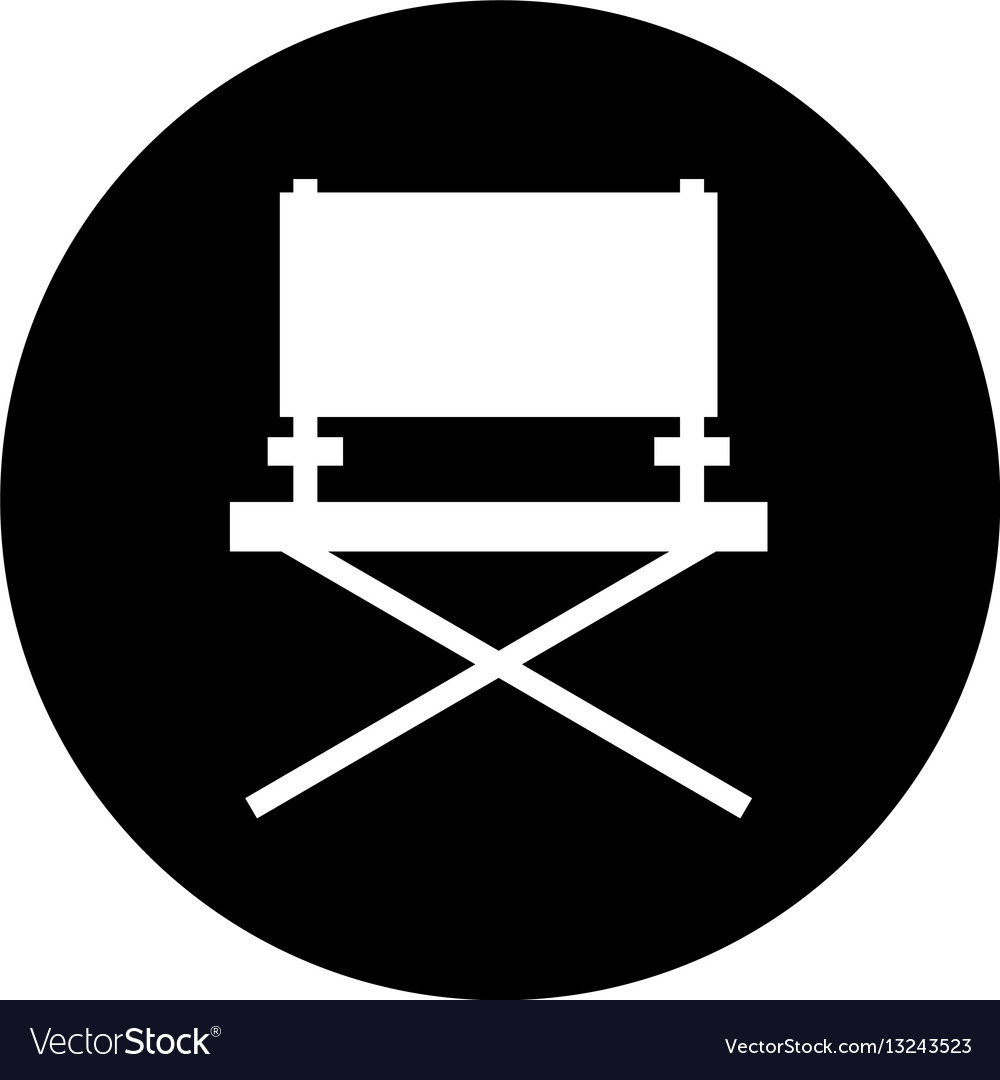 Director chair cinema icon vector image