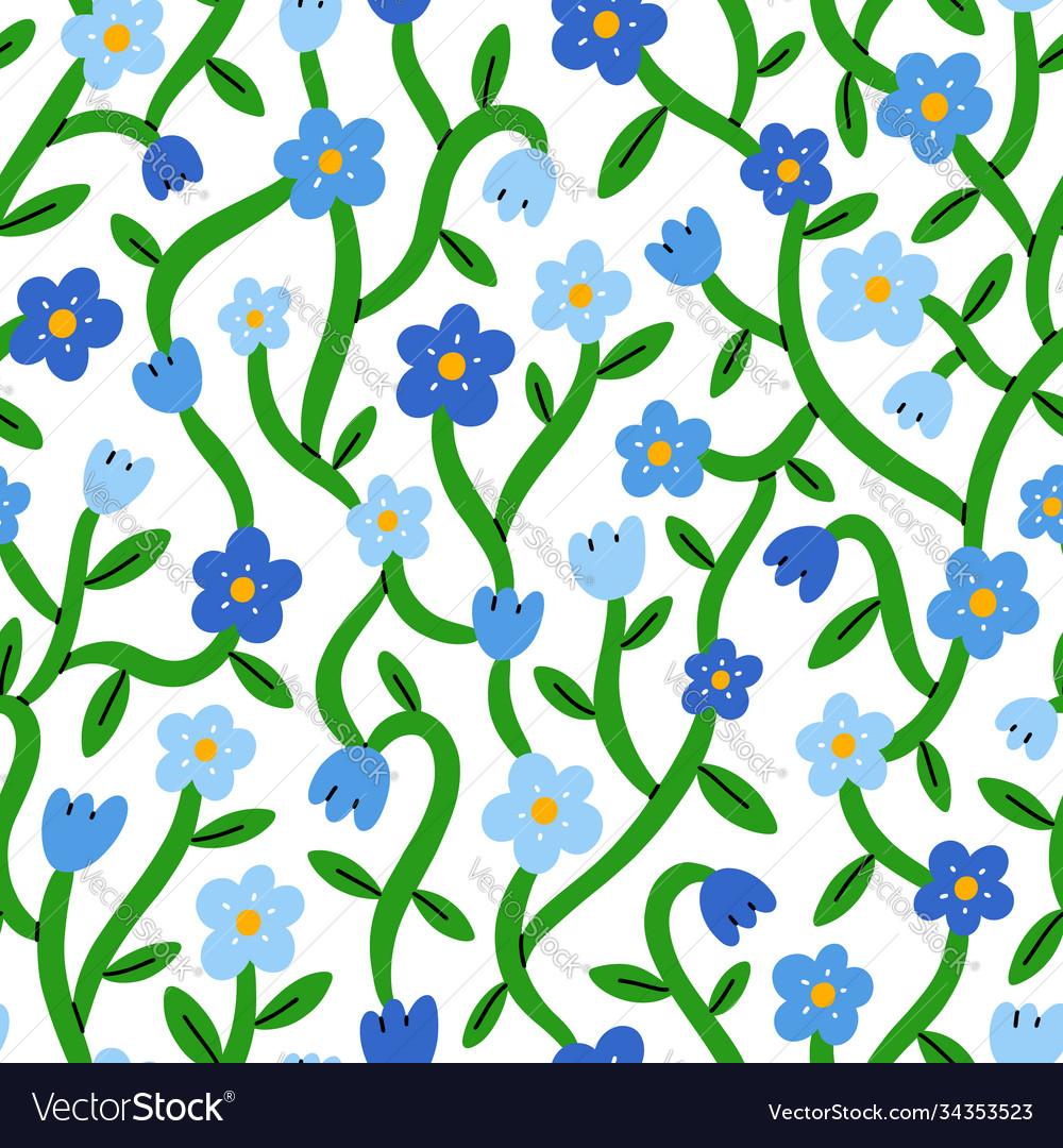 Forget me not tiny blue floral pattern