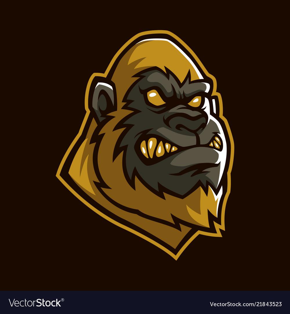 Golden apes sign and symbol logo