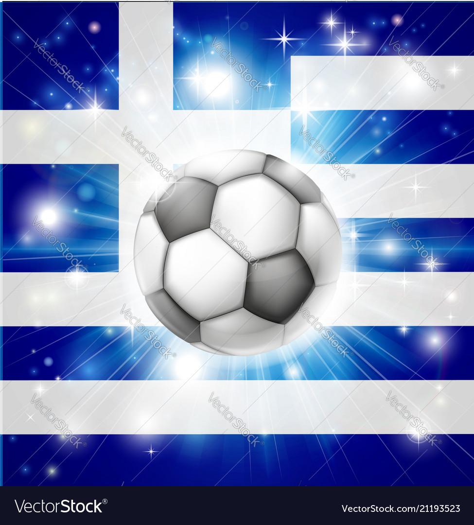 Greek soccer flag