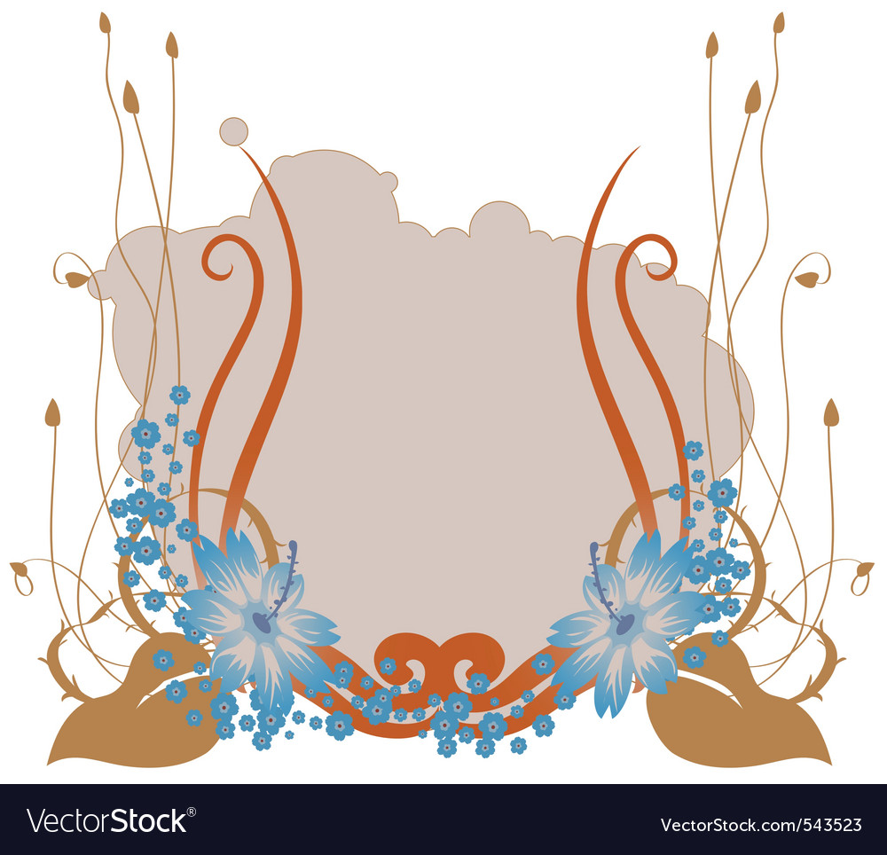 Retro floral abstract vector image