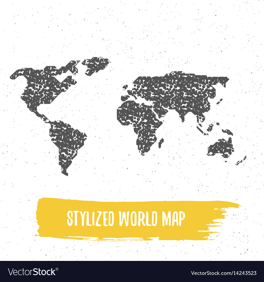 Stylized world map royalty free vector image vectorstock stylized world map vector image gumiabroncs Gallery