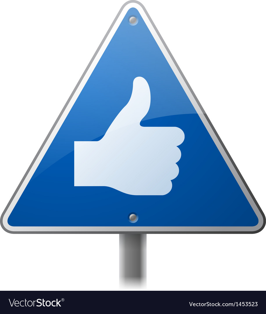 Thumbs Up Sign vector image