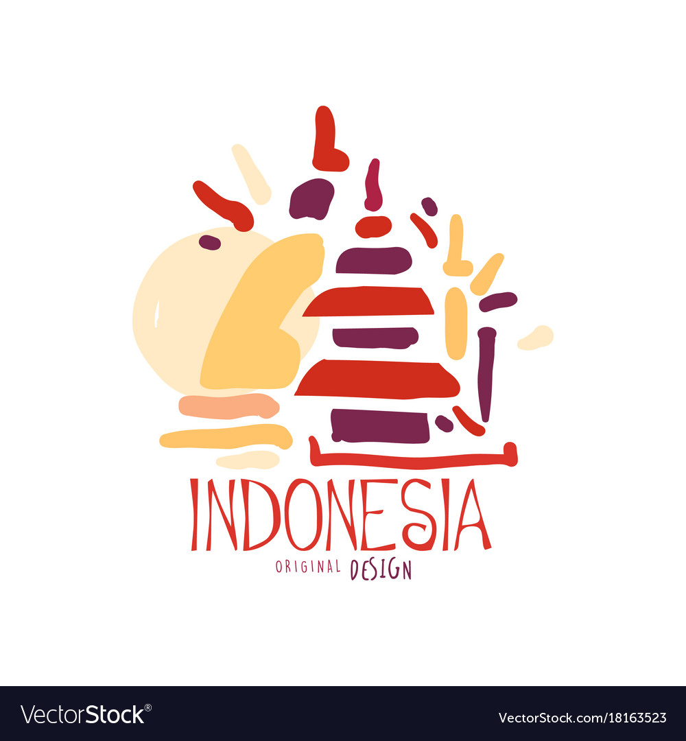 Go Pay Indonesia: Travel To Indonesia With Ulun Danu Temple Vector Image