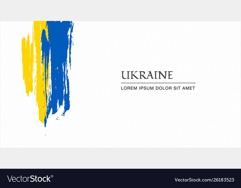 Ukrainian flag brush style background with