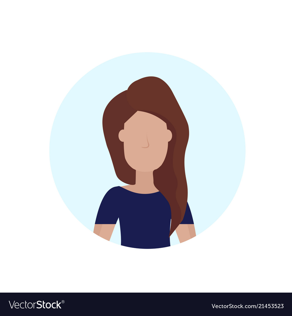 Woman Avatar Isolated Faceless Female Cartoon Vector Image