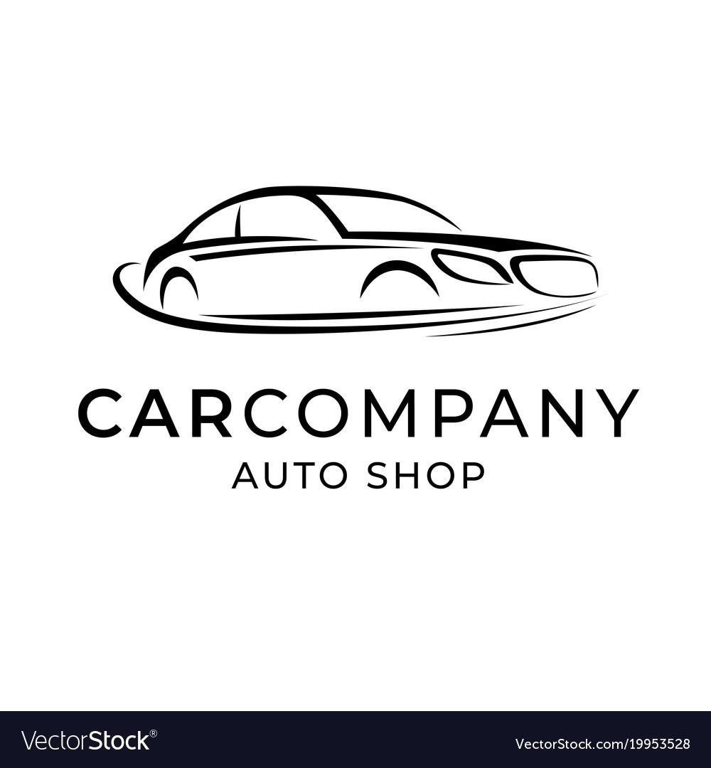 Auto Dealer Shop Template Emblem Creative Logo Vector Image